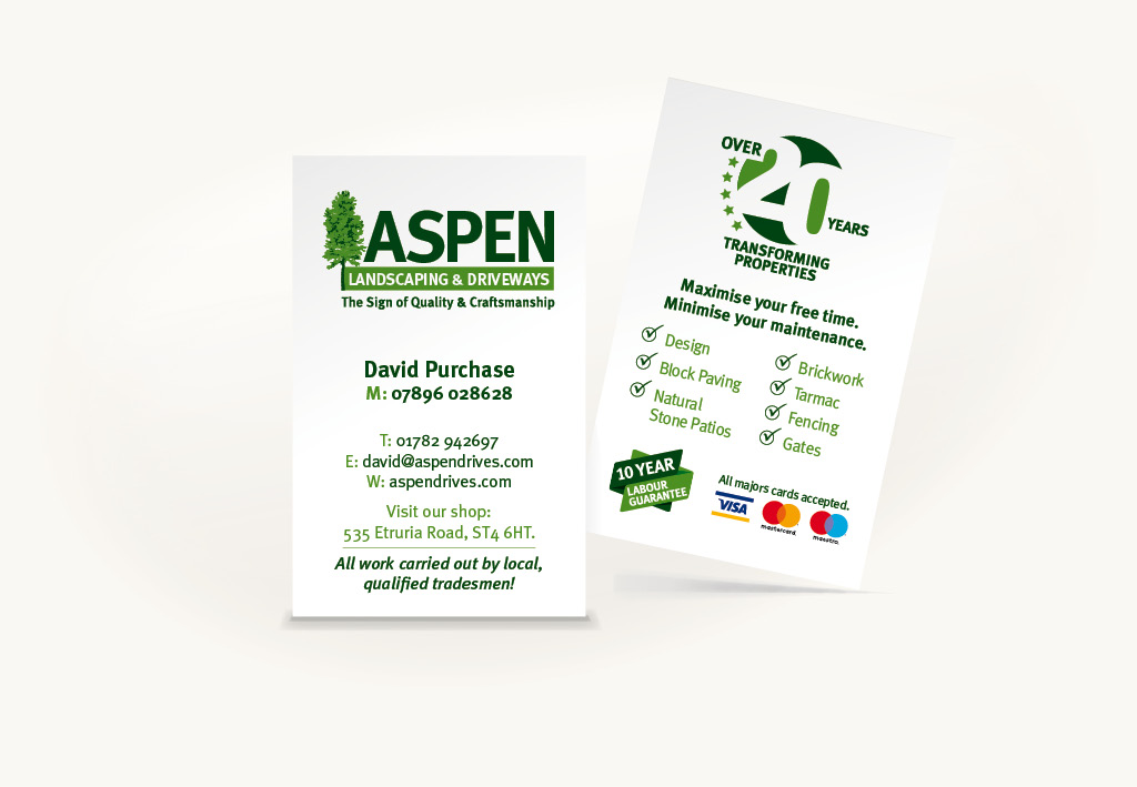 Aspen Landscapes Business Card Design