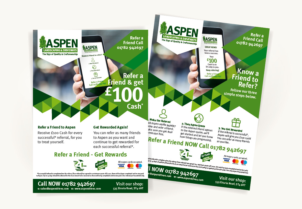 Aspen Landscapes Referral Leaflet Design