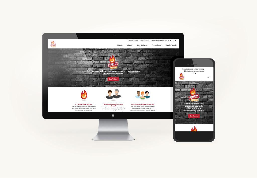 Comedy Hotspot Website Design & Development