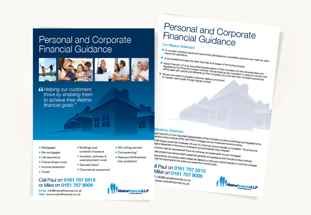 Maine Financial Leaflet Design