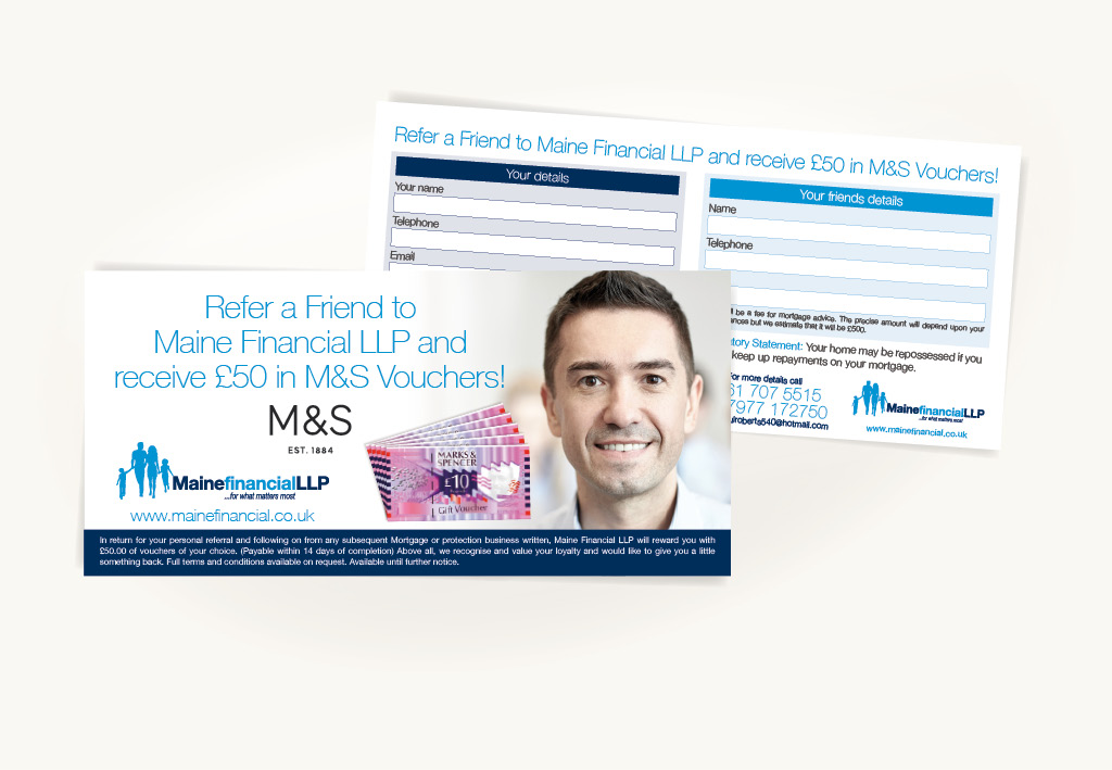 Maine Financial Referral Leaflet Design