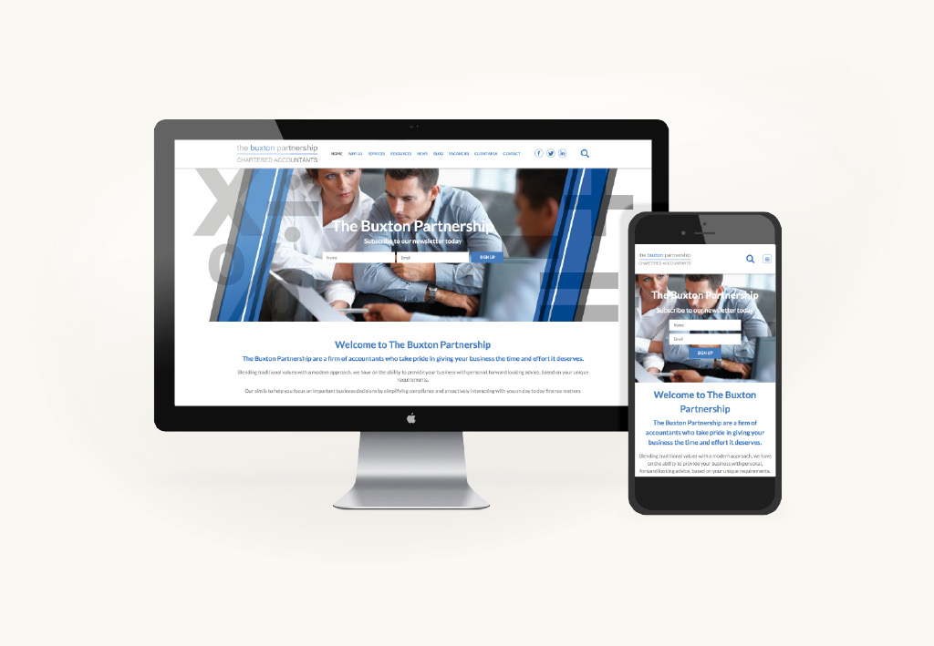 The Buxton Partnership Website Design